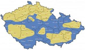 mapa pokrytí InternetHOME