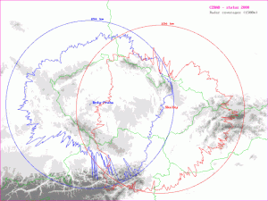 Dosah meteorologických radarů