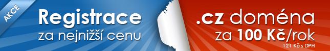 banner akce Český hosting