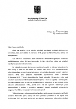 Dopis Sobotka