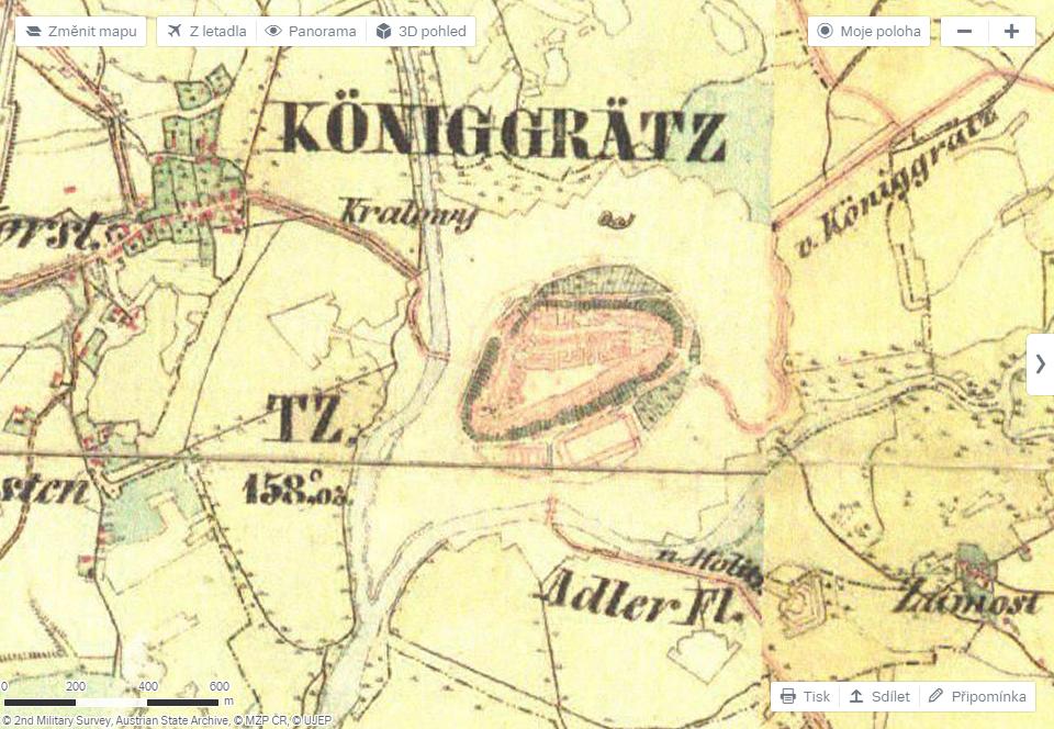 Mapy.cz - historická mapa