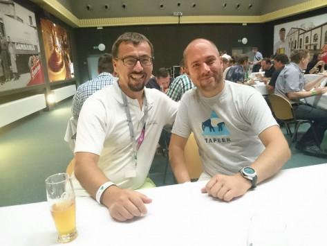 Ředitel sdružení NIX.CZ Martin Semrád a předseda spolku Internet pro všechny Miloslav Sova